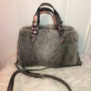 New Michael Kors Fur Purse with Long Strap